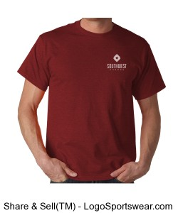 Southwest Church Mens T-shirt - Red Design Zoom