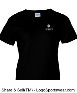 Southwest Church Ladies T-shirt - Black Design Zoom