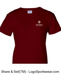 Southwest Church Womens T-shirt - Red Design Zoom